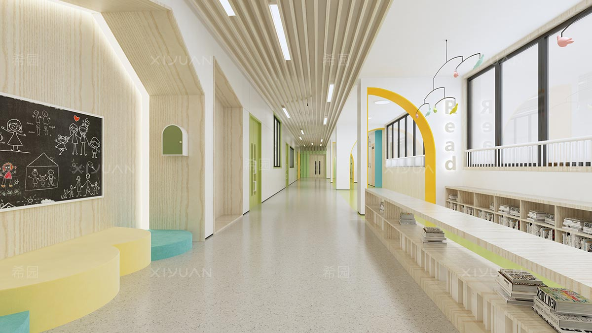 幼儿园室内走廊设计