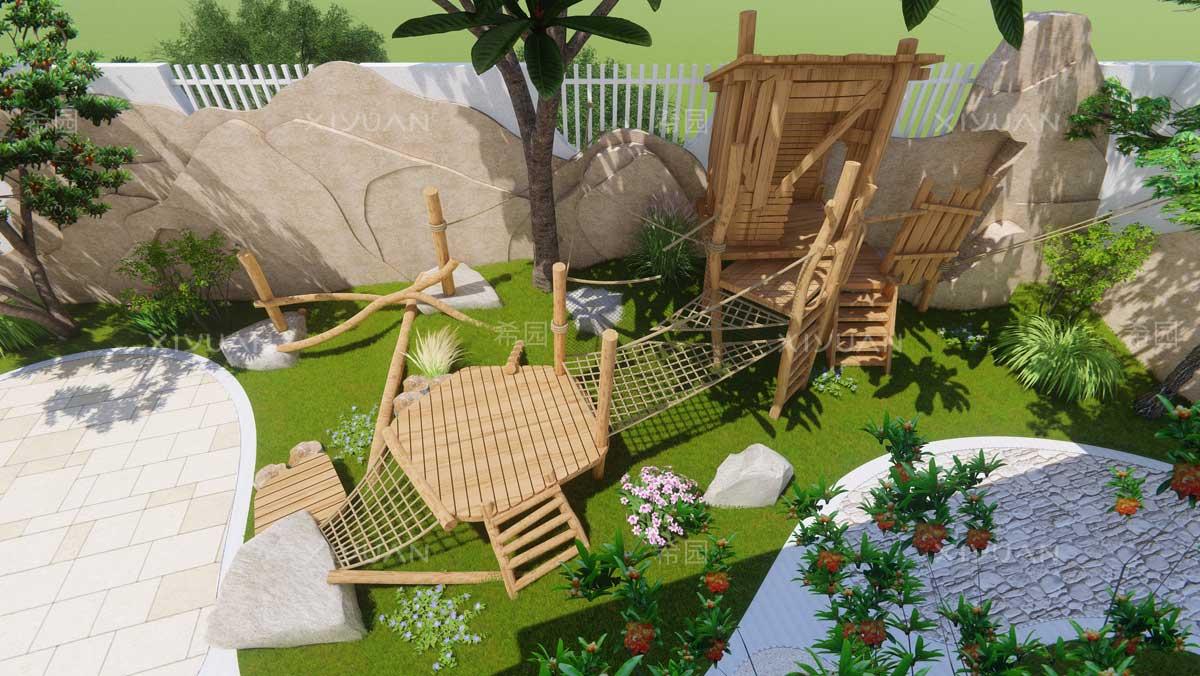 幼儿园攀爬网设计