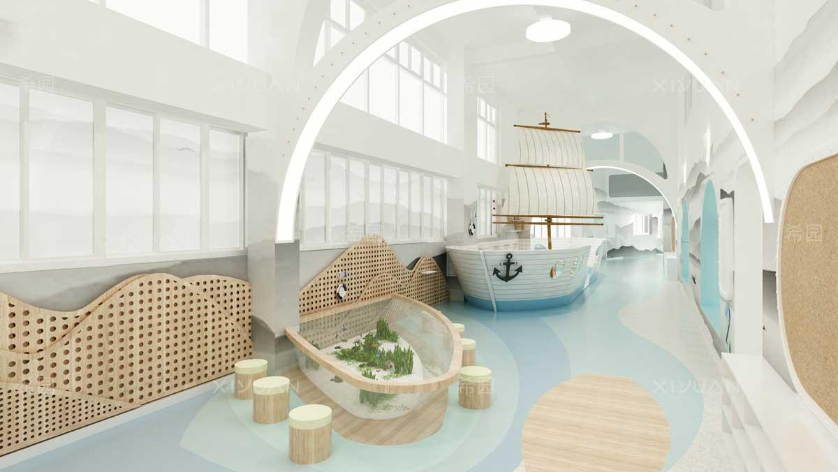 幼儿园设计-二层廊道