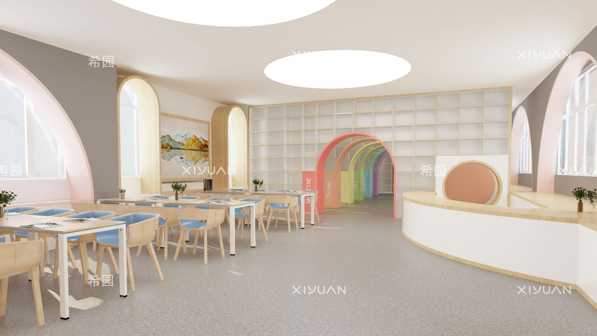幼儿园设计-图书馆