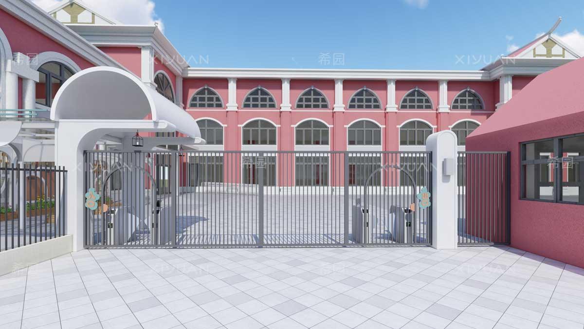 幼儿园院墙门设计