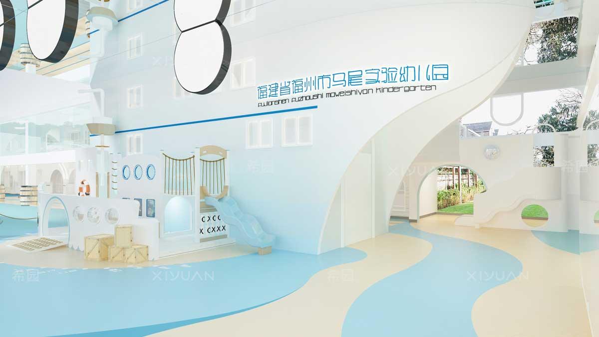 幼儿园设计-一层大厅