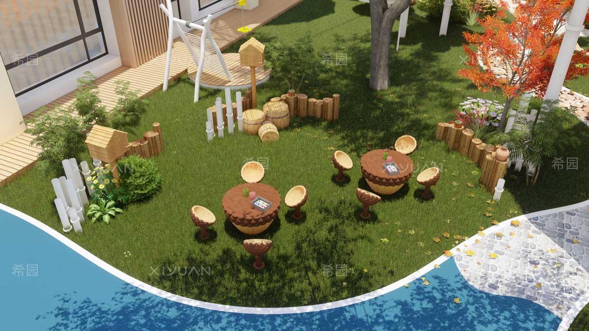 幼儿园休息区
