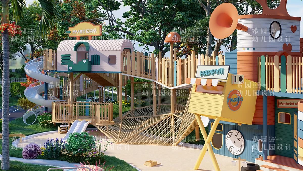如何设计童话感满满的幼儿园户外环境