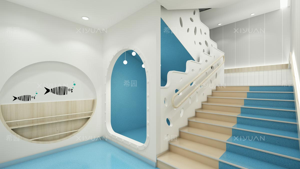 幼儿园楼梯装修效果图片大全