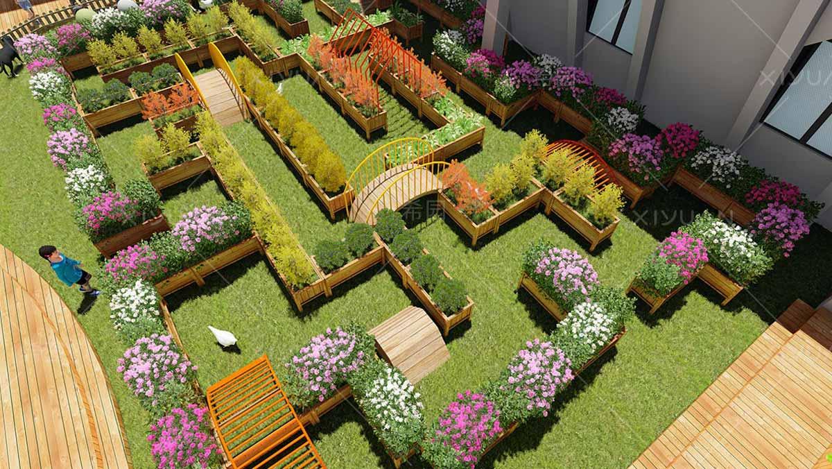 幼儿园种植区设计