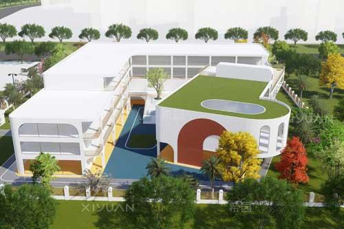滨河西路幼儿园建筑设计方案二